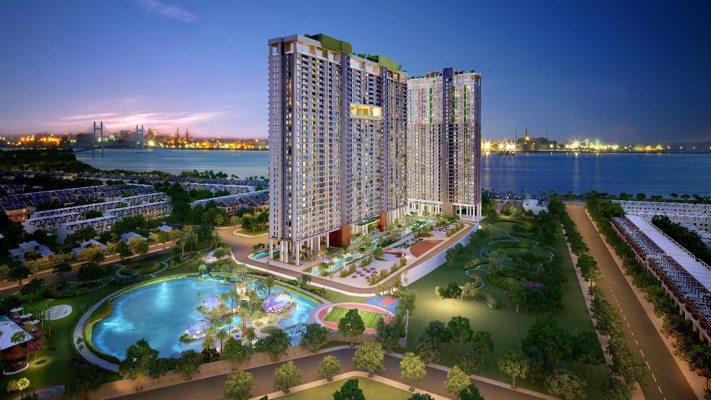 """Giới đầu tư """"đổ xô"""" săn lùng căn hộ 3 mặt ven sông tại Nam Sài Gòn"""